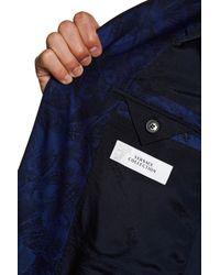 Versace   Blue Notch Lapel Two Button Print Wool Sportcoat for Men   Lyst