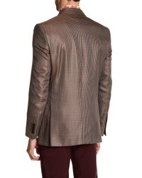Versace | Brown Notch Lapel Two Button Print Sportcoat for Men | Lyst