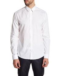 Versace | White Woven Long Sleeve Trim Fit Shirt for Men | Lyst