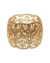 Nadri - Metallic Openwork & Cz Embellished Bracelet - Lyst