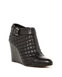 Vince Camuto | Black Loore Quilted Wedge Boots | Lyst