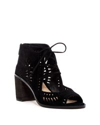 Vince Camuto | Black Tarita Cutout Lace-up Sandal (multiple Widths Available) | Lyst
