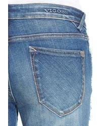 Vigoss - Blue Thompson Frayed Crop Tomboy Jeans - Lyst