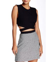 Twenty - Black Cutout Tank - Lyst