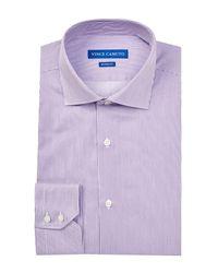 Vince Camuto | Purple Oxford Trim Fit Striped Dress Shirt for Men | Lyst
