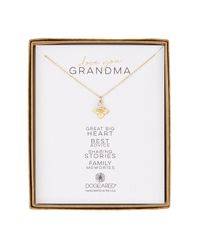 Dogeared - Metallic 14k Gold Plated Sterling Silver Love You Grandma Necklace - Lyst