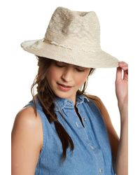 Vince Camuto | Blue Panama Hat | Lyst