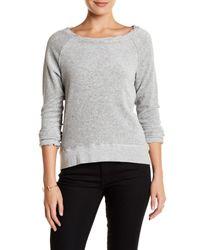 Pam & Gela - Gray Annie Hi-lo Velour Sweatshirt - Lyst