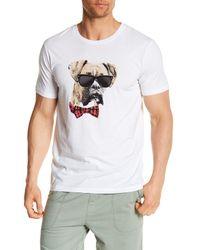 Pj Salvage - White Smoking Dog Short Sleeve Dog Tee for Men - Lyst