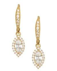 Nadri | Metallic 18k Gold Clad Marquise Cz Dangle Earrings | Lyst
