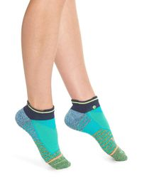 Stance - Blue 'reflex' Low-cut Athletic Socks - Lyst