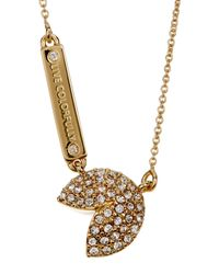Kate Spade | Metallic Gold Plated Pave Pendant Necklace | Lyst