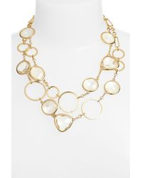 kate spade new york - Metallic 'sun Kissed' Double Strand Necklace - Lyst