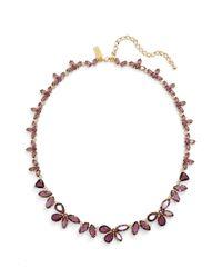 kate spade new york - Metallic Crystal Collar Necklace - Lyst