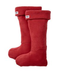 HUNTER | Red Welly Warmer Socks | Lyst