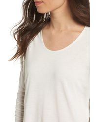 RVCA - White Sutherland Cutout Long Sleeve Tee - Lyst