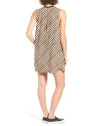 RVCA | Black Seldom Basketweave Print Shift Dress | Lyst