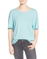 James Perse - Blue Relaxed Linen Cotton Tee - Lyst