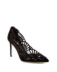 Giorgio Armani | Black Decollete Crystal Embellished Pump | Lyst