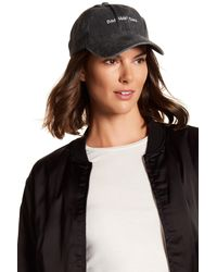 Steve Madden | Black Bad Hair Day Baseball Cap | Lyst