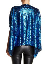 Steve Madden - Blue Sequin Kimono Shrug - Lyst