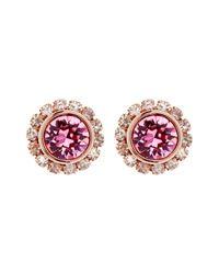 Ted Baker - Pink Crystal Daisy Stud Earrings - Lyst