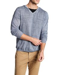 Autumn Cashmere | Blue V-neck Pullover Hoodie for Men | Lyst