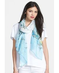 Ted Baker | Blue 'colourful Canary' Scarf | Lyst