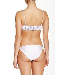 Billabong | White Kaia Floral Bustier Bikini Top | Lyst