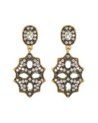 Freida Rothman - Metallic Two-tone Starburst Aquamarine Drop Earrings - Lyst