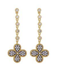 Freida Rothman | Metallic 14k Gold Plated Sterling Silver Bezel Set Cz Drop Earrings | Lyst