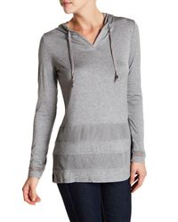 Cable & Gauge | Gray Long Sleeve Pullover Hoodie | Lyst