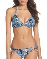 Blush By Profile | Blue Desert Palm Bikini Top | Lyst