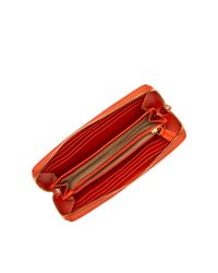 UGG - Orange Classic Zip Around Leather Wallet - Lyst