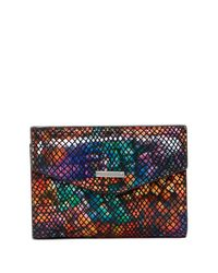 Lodis - Multicolor Elche Printed Leather French Purse - Lyst