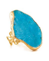 Charlene K - Blue Turquoise Stone Ring - Lyst