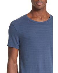 ATM | Blue Jacquard Stripe T-shirt for Men | Lyst