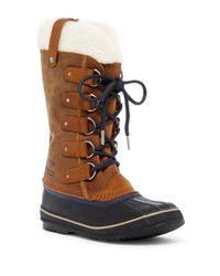 Sorel | Brown Joan Of Arctic Genuine Shearling Trimmed Waterproof Boot | Lyst