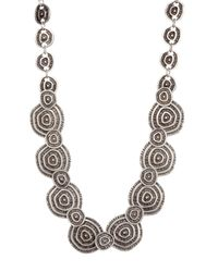 TMRW STUDIO - Metallic Antique Silver Plated Pewter Mixed Circle Plate Necklace - Lyst