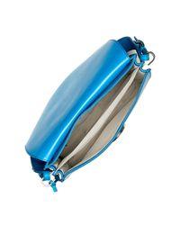 Fossil - Blue Finley Leather Shoulder Bag - Lyst