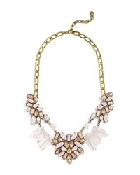 BaubleBar - Metallic Lyla Rose Quartz Stone Statement Necklace - Lyst