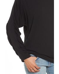 Project Social T - Black Ruched Sleeve Sweatshirt - Lyst
