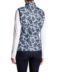 Joe Fresh - Blue Floral Quilted Vest - Lyst
