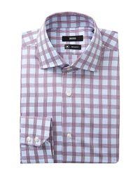 BOSS - Purple Gerald Trim Fit Dress Shirt for Men - Lyst