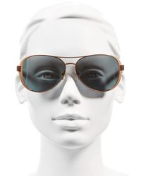 Tory Burch - Metallic 60mm Aviator Sunglasses - Lyst