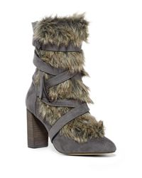 Charles David - Multicolor Alberta Faux Fur Belted Bootie - Lyst