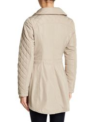 Laundry by Shelli Segal - Natural Quilted Hooded Jacket - Lyst