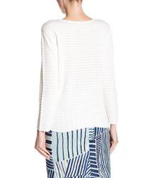 NIC+ZOE - White Swiss Dot Side Story Sweater - Lyst