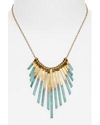Panacea - Metallic Patina Stick Necklace - Lyst