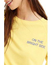 "J.Crew - Yellow ""on The Bright Side"" Sweatshirt - Lyst"